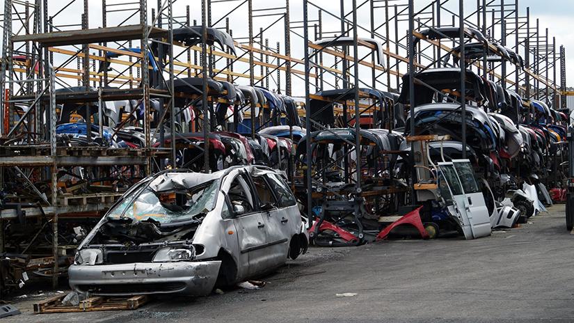 car recycling car metal