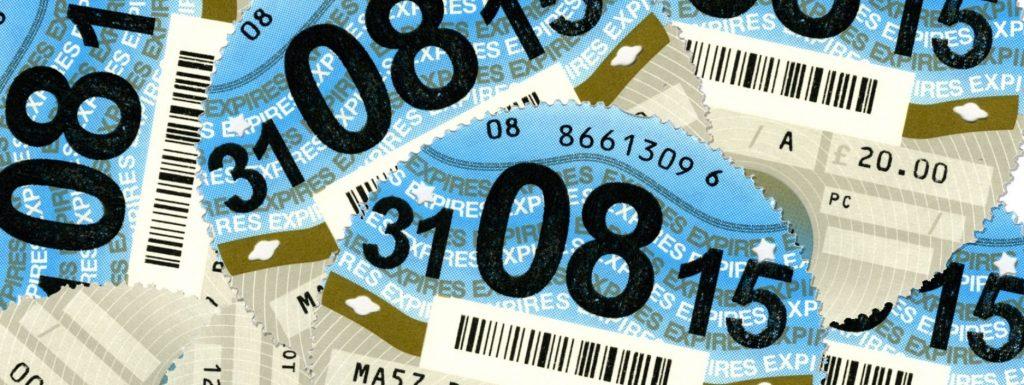 Blue tax discs