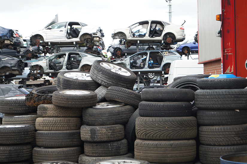 Tyres ready for recycling