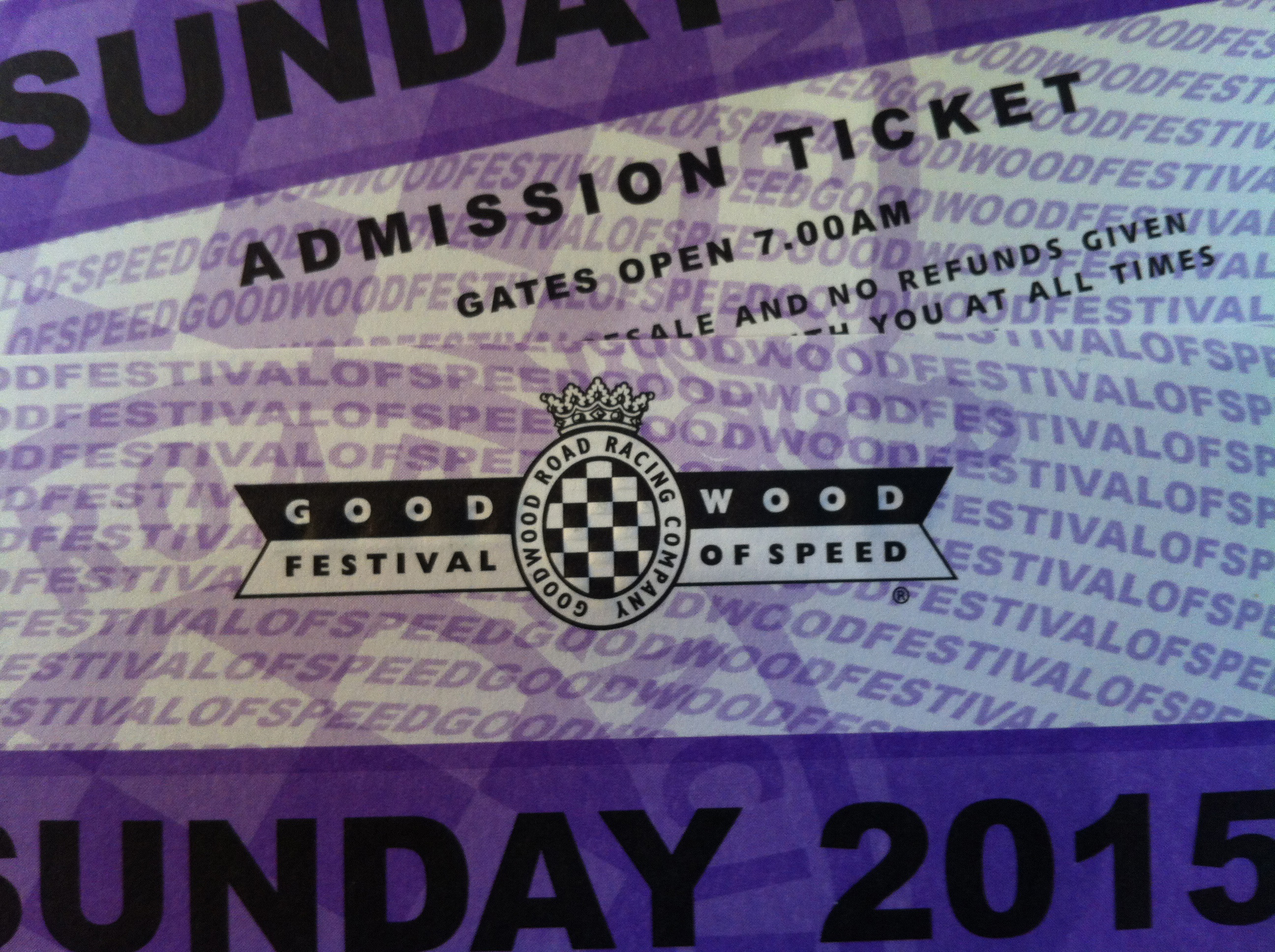 Christmas Car Gift: Tickets To The Goodwood Festival Of Speed