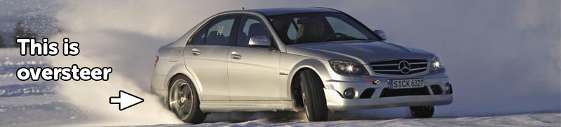 This is what oversteer in snow looks like