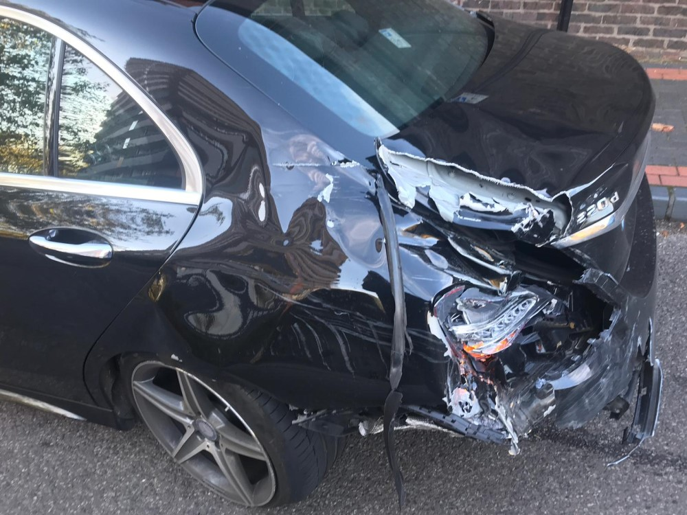 A total insurance write off damaged car