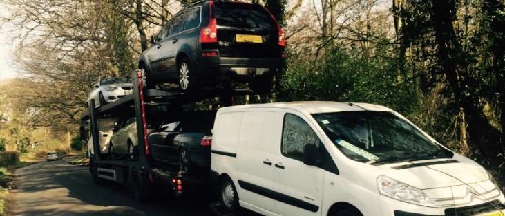 Derby scrap car collection