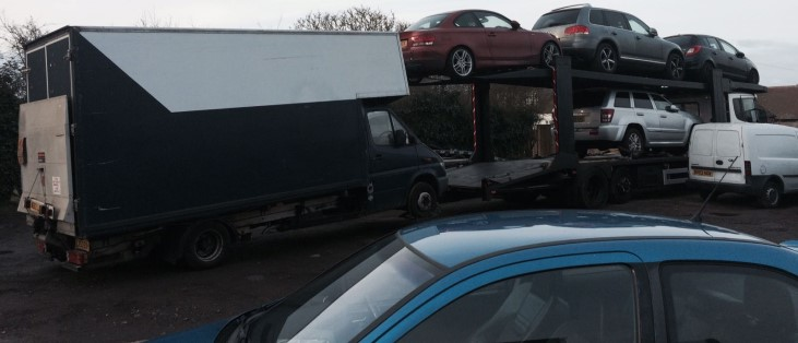 Luton scrap car collection