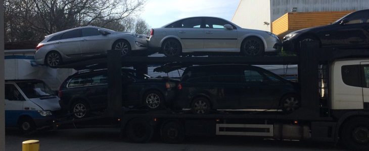 Scrap car collection in Nottingham
