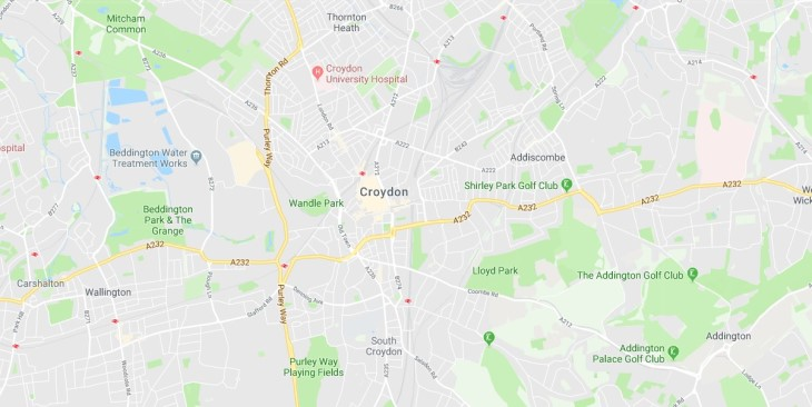 Map of Croydon Scrap Car Collection Areas