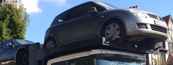 Scrap car collection in Bolton