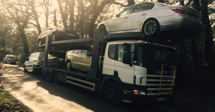 Scrap car collection in East London