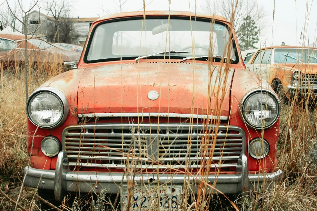 SORN car waiting to be scrapped
