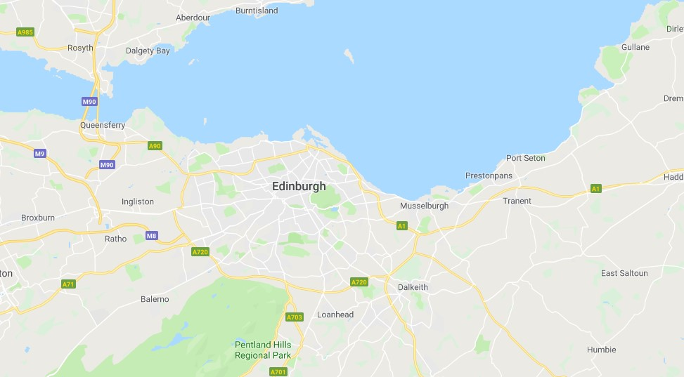 Map of EdinburghScrap Car Collection Areas