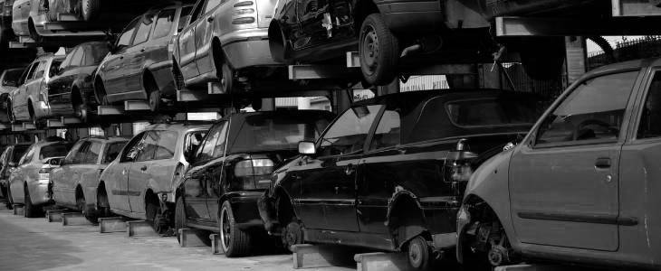 Salvage car collection in Grimsby