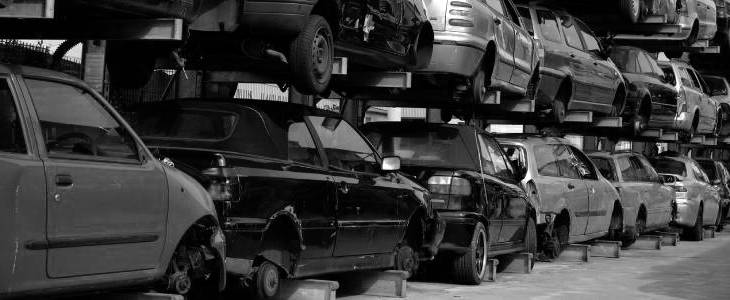 Salvage car collection in Staffordshire