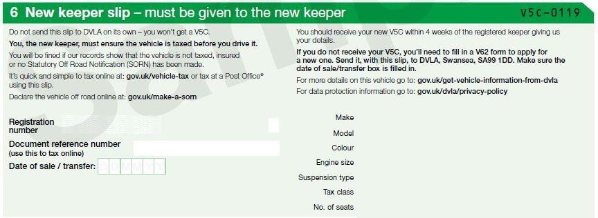 V5C new keeper slip