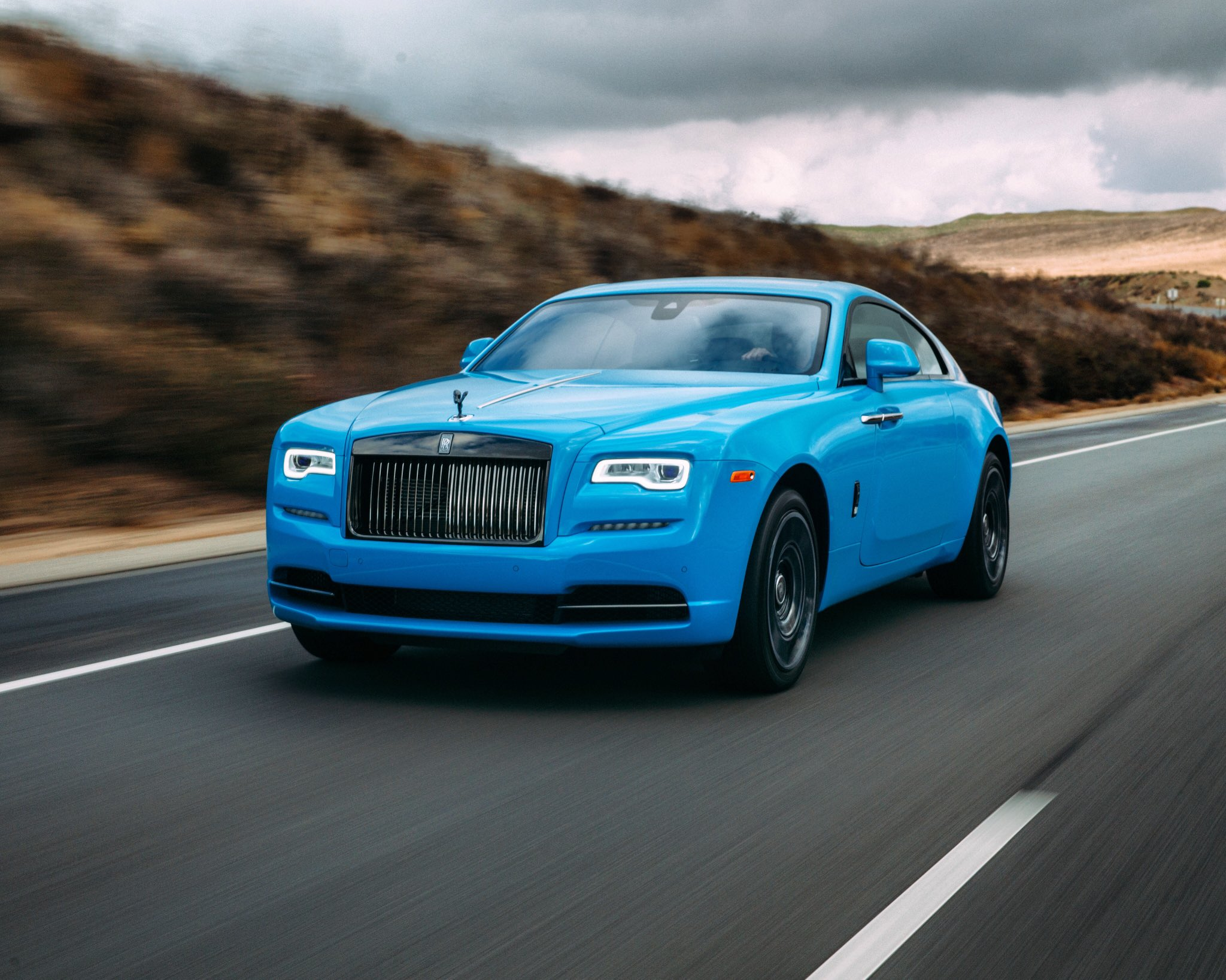 The Rolls Royce Wraith in Mexico Blue