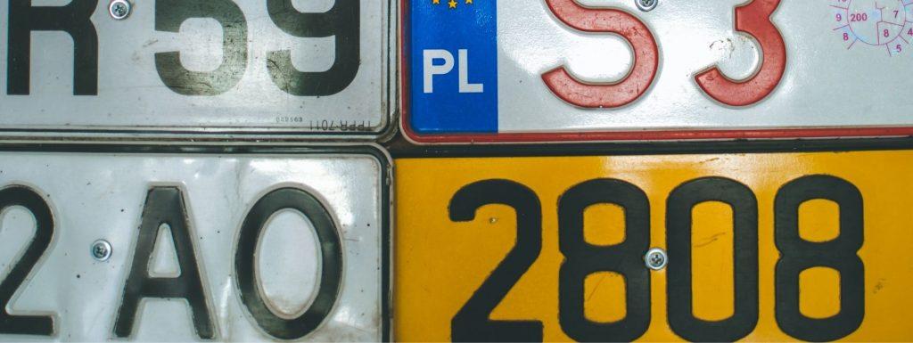 Number plate header